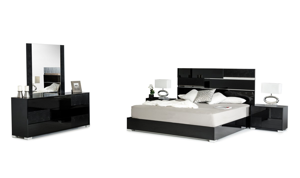 Ancona Black Bedroom Collection. Made In Italy ...