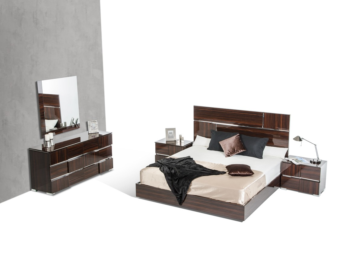 Picasso Ebony Lacquer Bedroom Collection