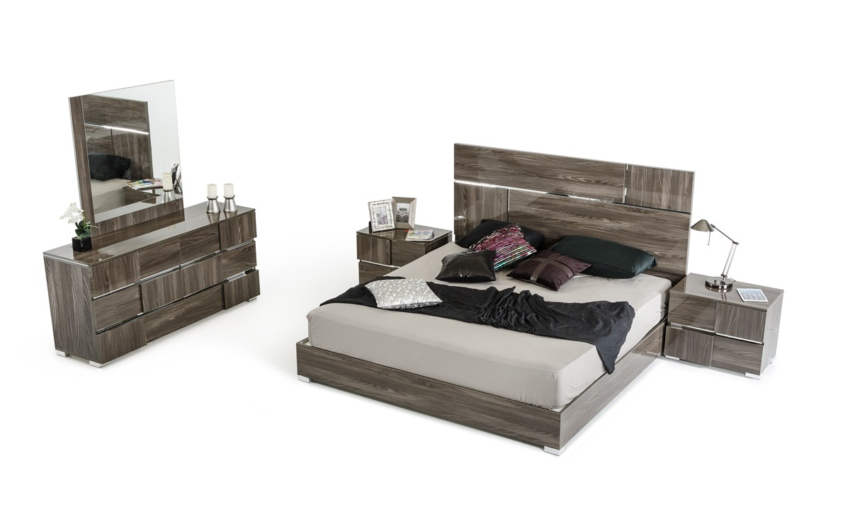 Picasso Grey Lacquer Bedroom Collection