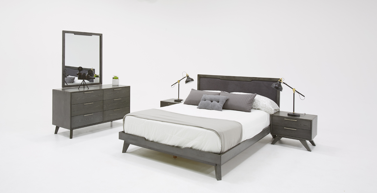 VIG Furniture Nova Domus Soria Modern Grey Wash Bedroom Set