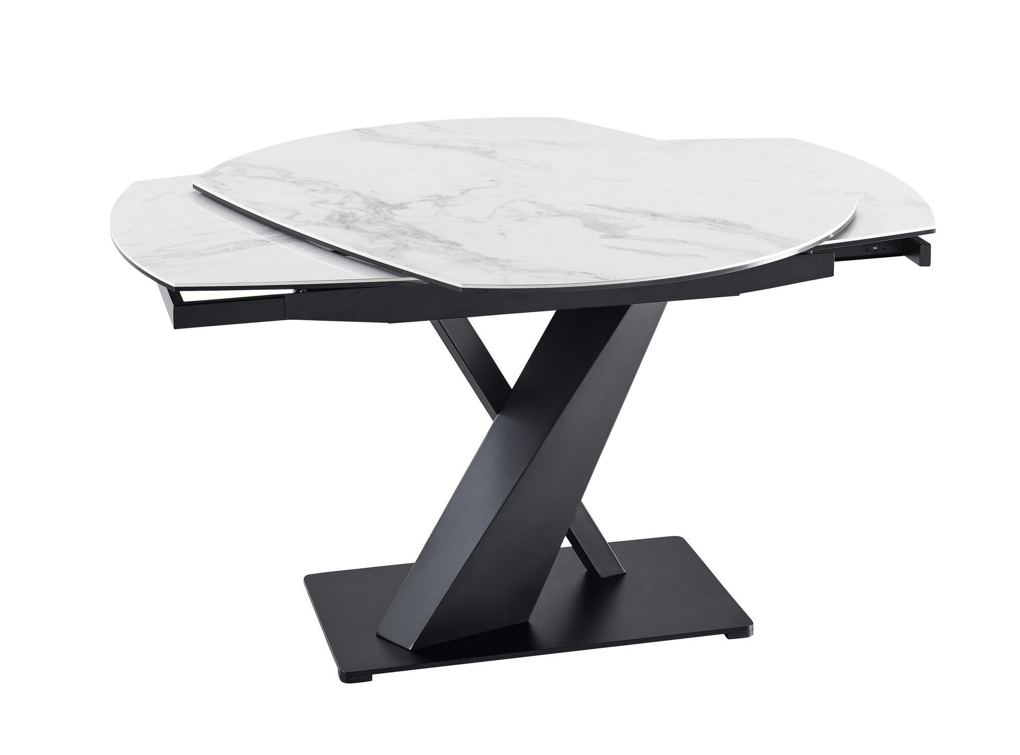 VIG Furniture Modrest Jarman Contemporary Ceramic Extendable Dining Table