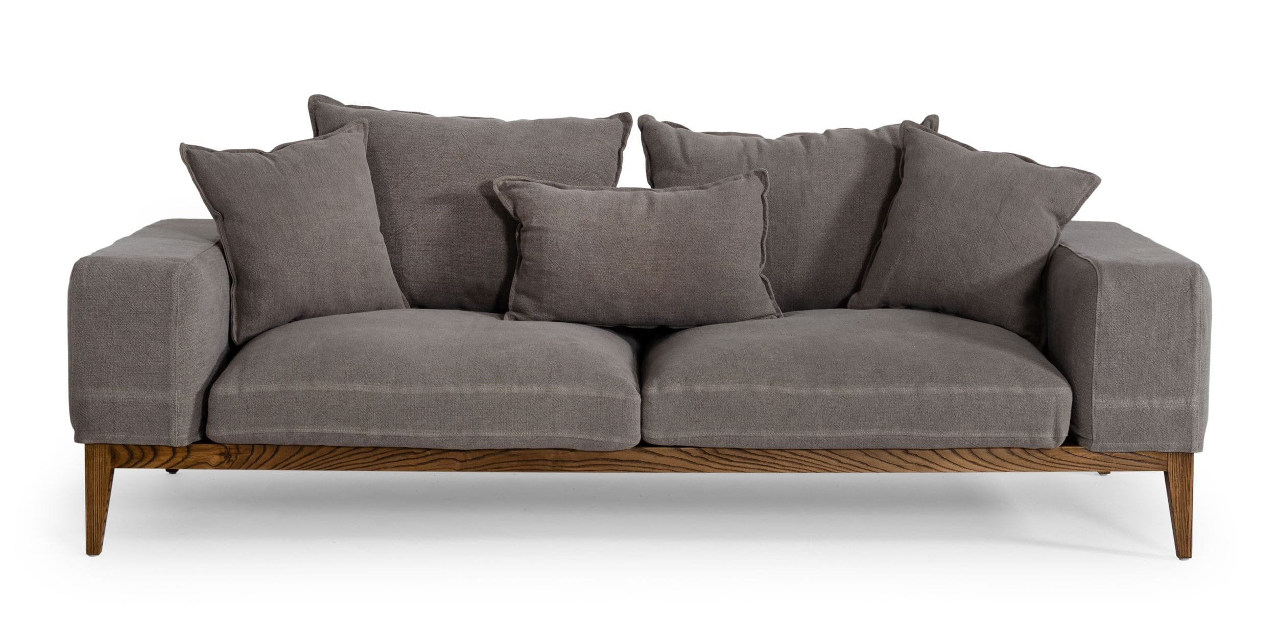 VIG Furniture Divani Casa Corina Modern Grey Fabric Sofa