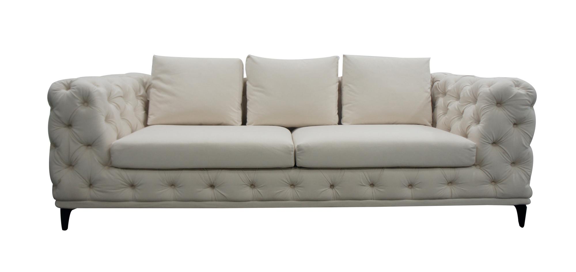 VIG Furniture Divani Casa Werner Modern White Velvet Sofa
