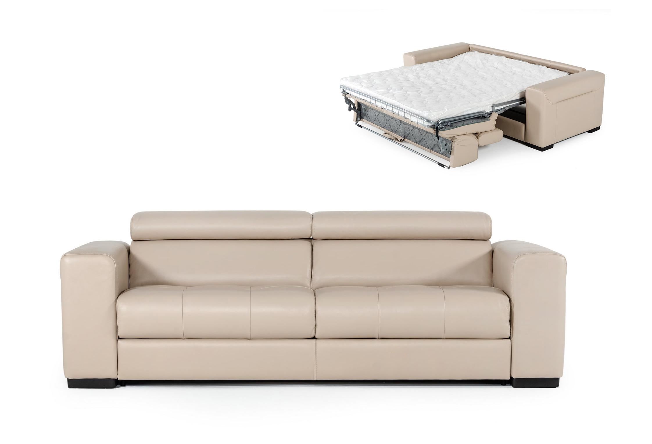 VIG Furniture Coronelli Collezioni Icon Modern Italian Leather Sofa Bed