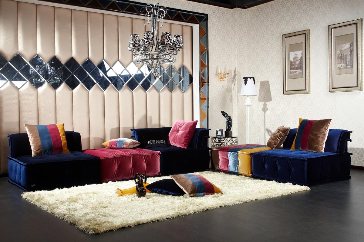VIG Furniture Divani Casa Dubai Contemporary Modern Modular Fabric Sectional Sofa