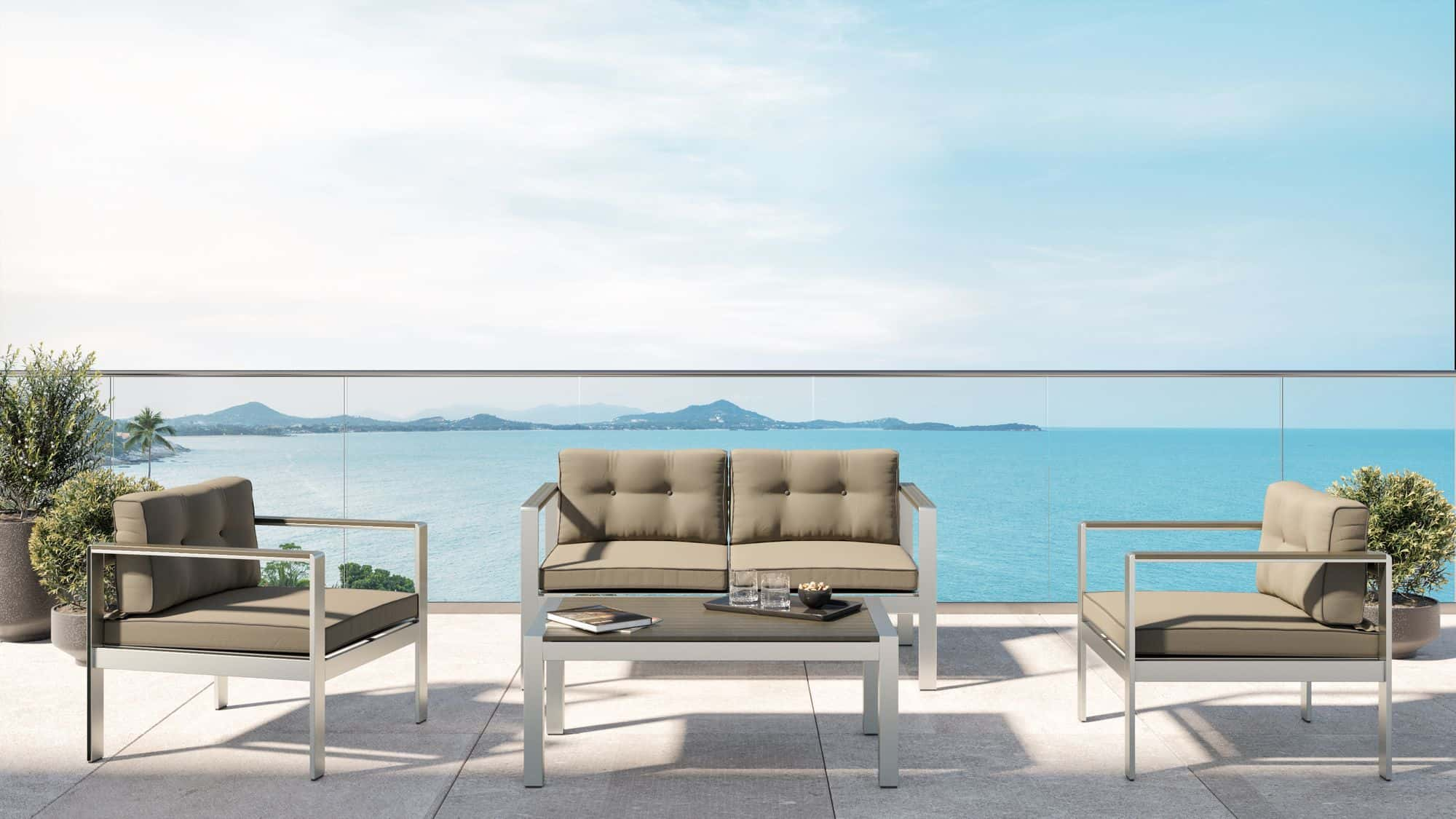 VIG Furniture Renava Baja Outdoor Grey Sofa Set