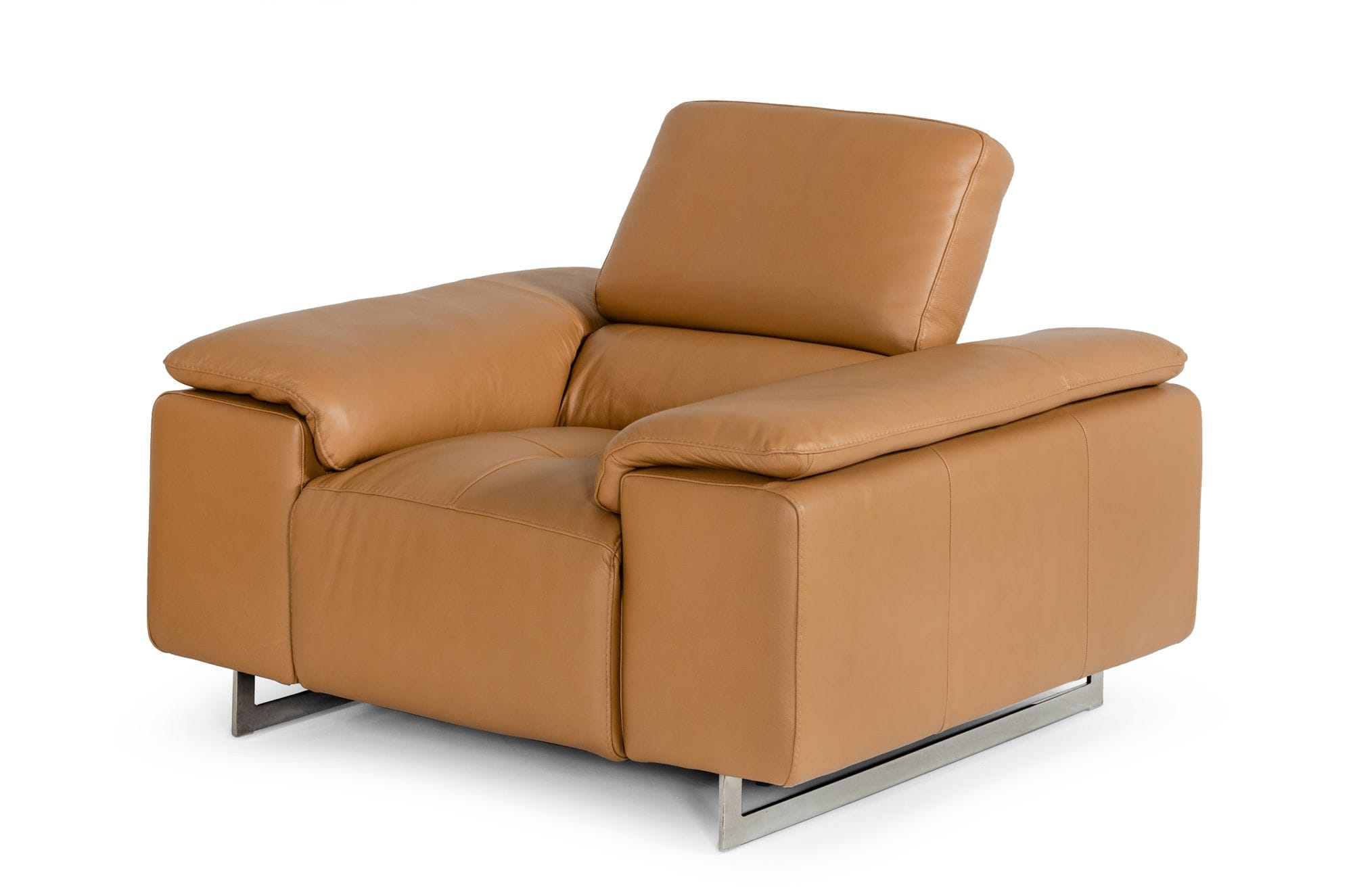 VIG Furniture Estro Salotti Blossom Modern Cognac Leather Recliner