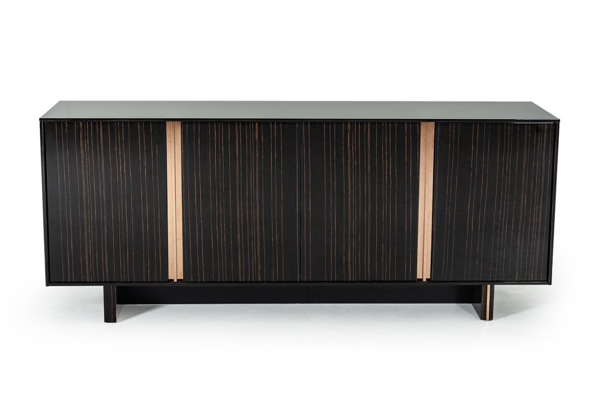 VIG Furniture Modrest Chadwick Modern Ebony and Rosegold Buffet