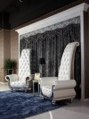 Divani Casa Luxe - Neo-Classical Pearl White Italian Leather Tall Chair