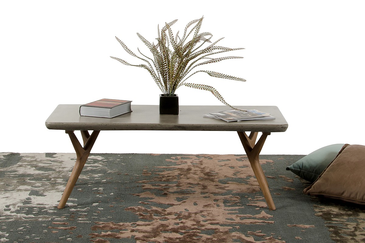 Modrest Dondi Concrete Coffee Table Coffee Tables