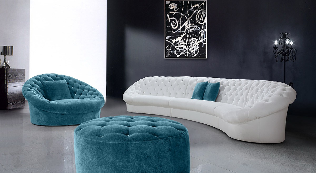 Prime Divani Casa Cosmopolitan Modern Tufted Fabric Sectional Onthecornerstone Fun Painted Chair Ideas Images Onthecornerstoneorg