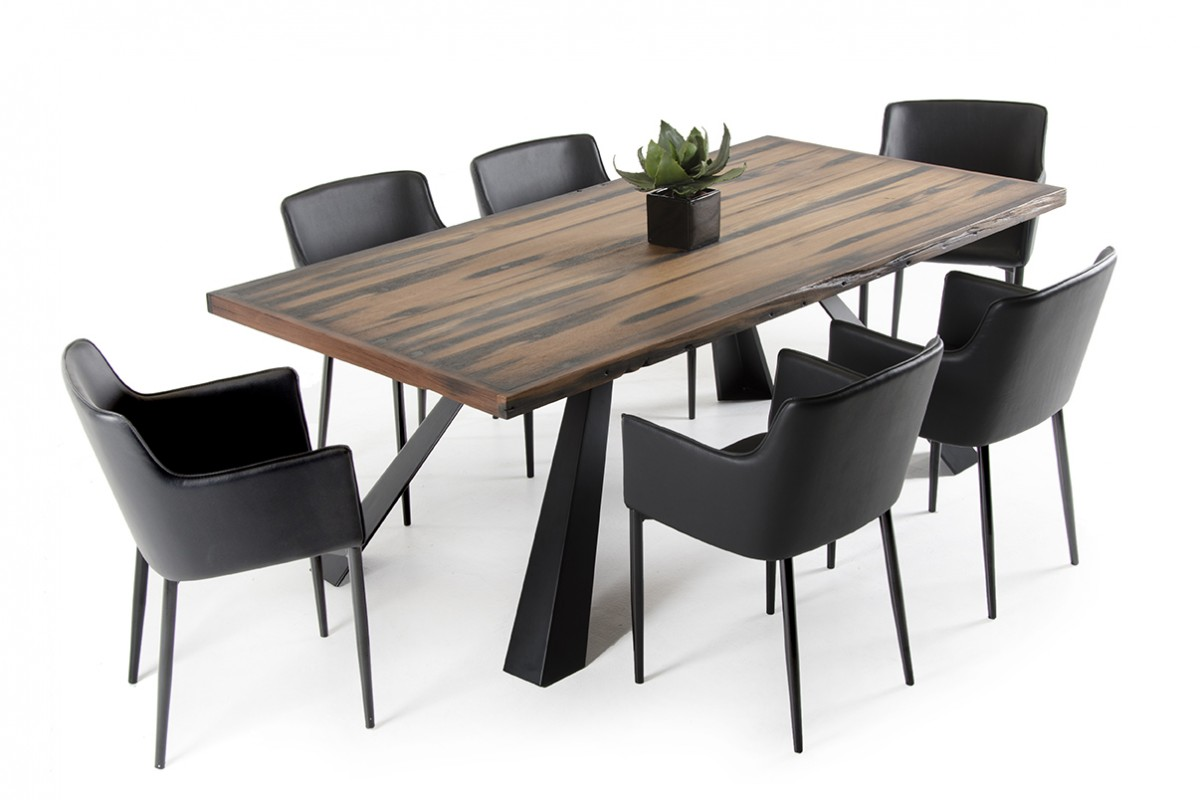 Modrest norse modern ship wood dining table modern for Wood modern dining table