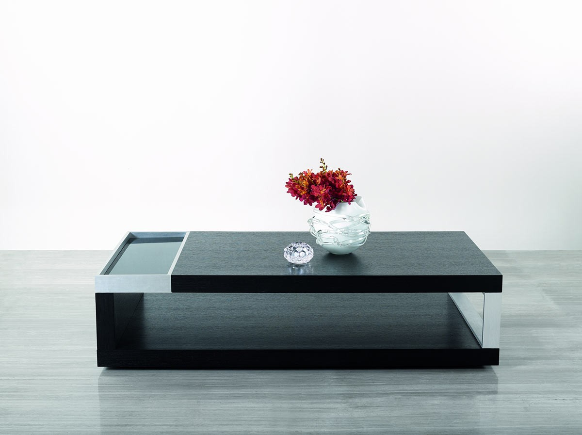 - Modrest Gemstone - Modern Black Oak Coffee Table - Coffee Tables