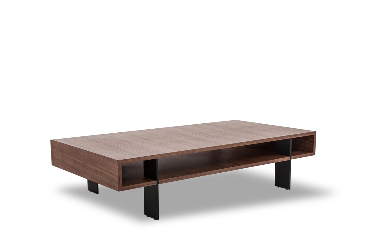 Modrest stilt modern walnut coffee table coffee tables living room - Modern coffee table ...