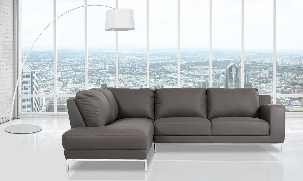 Casa Primrose - Modern Eco-Leather Sectional Sofa