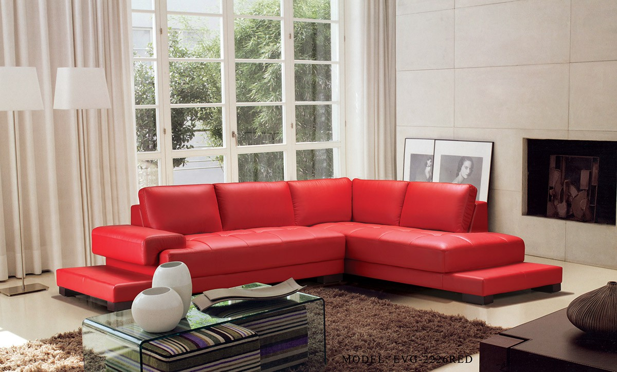 Divani Casa Moscow Modern Leather Sectional Sofa