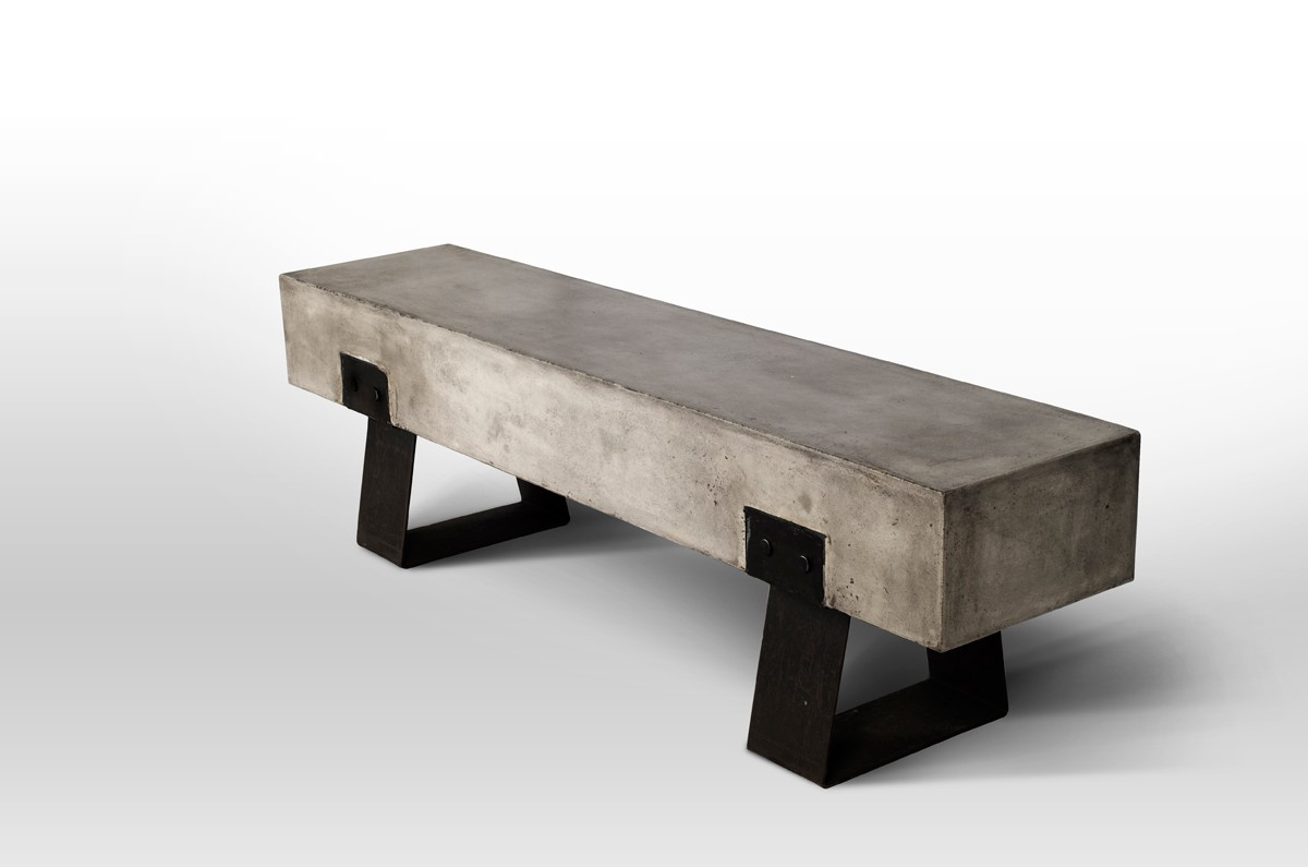 Modrest Haring Modern Concrete Bench Outdoor