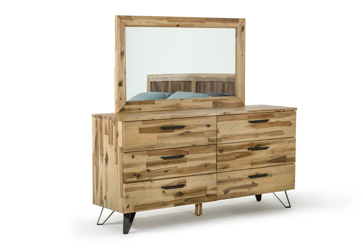modern wood dresser modrest sala modern light wood dresser amp mirror set 12649