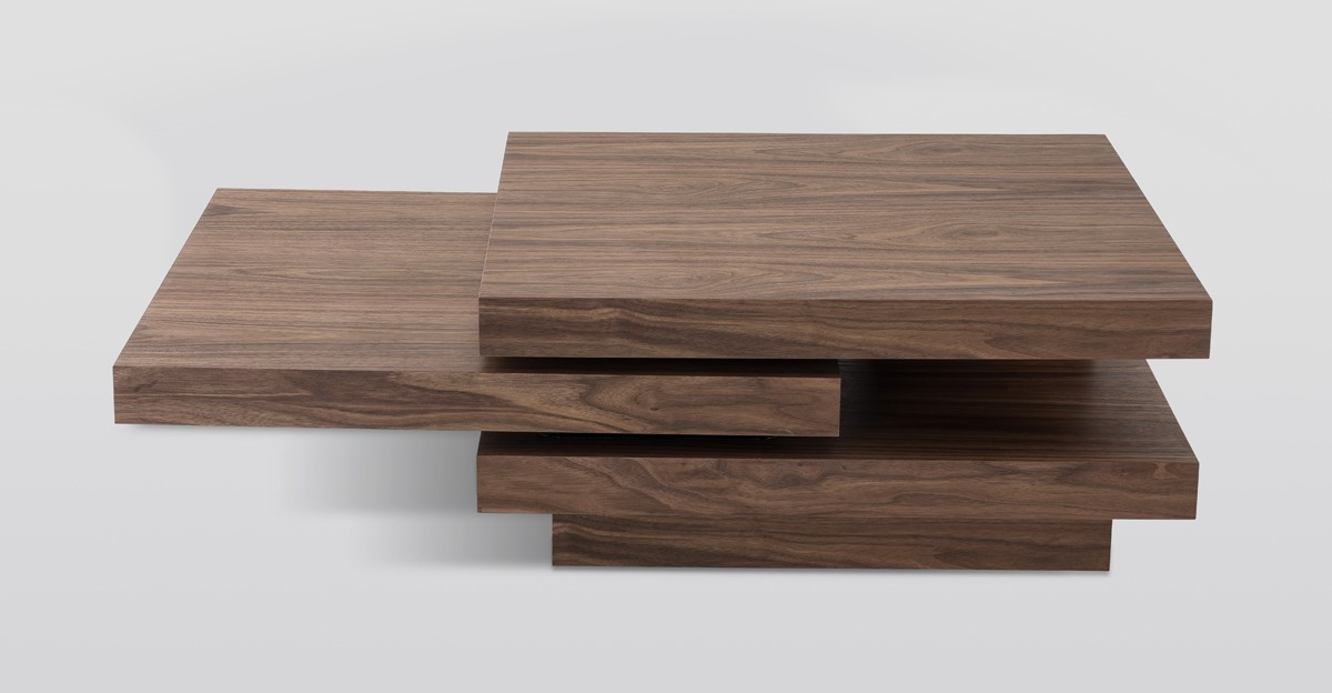 Modrest Lani Modern Walnut Coffee Table ...