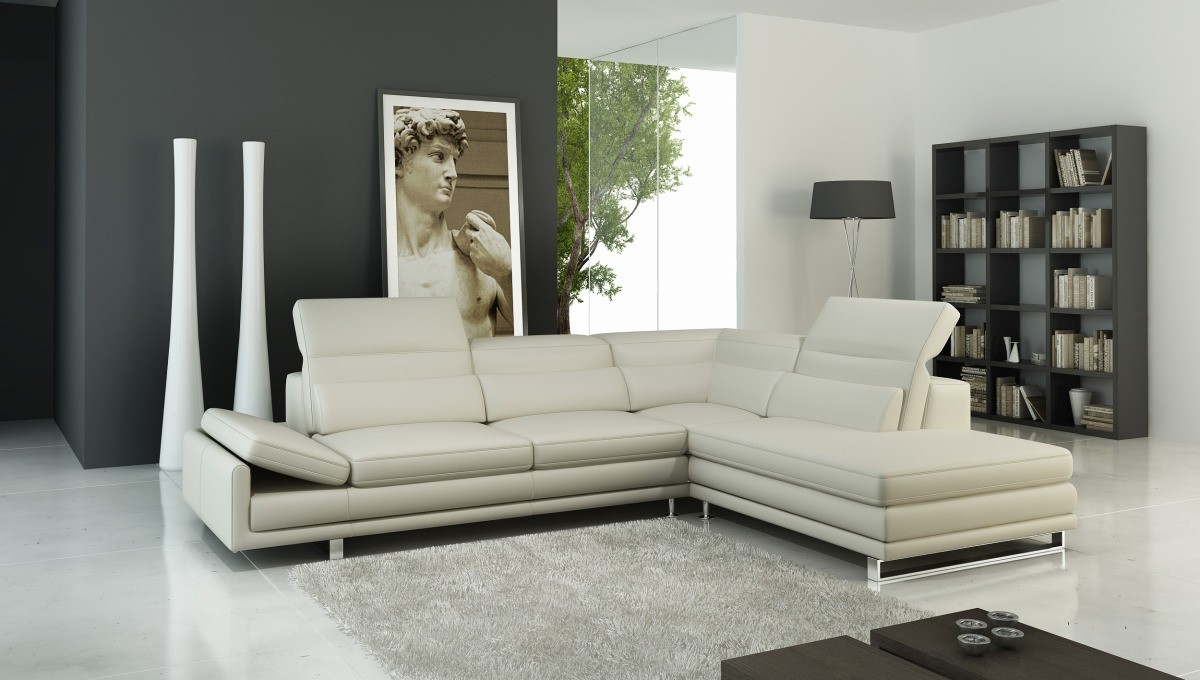 Divani Casa 958 - Modern Italian Leather Sectional Sofa : modern italian leather sectional sofas - Sectionals, Sofas & Couches