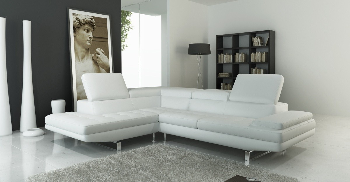 Divani Casa 959 Modern Italian Leather Sectional Sofa