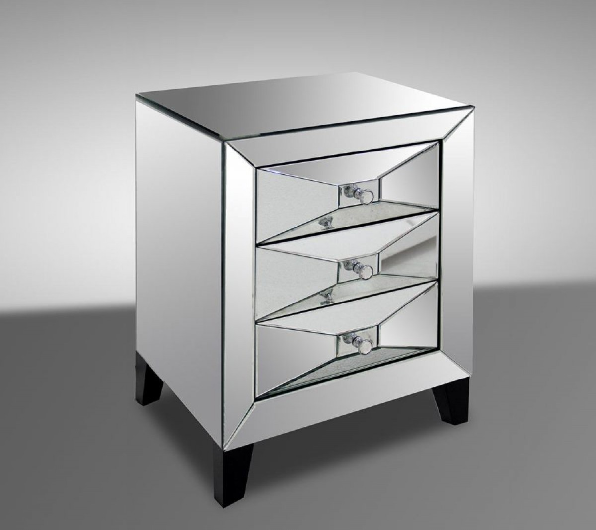 Modrest warwick transitional mirror bedside table for Mirror nightstand