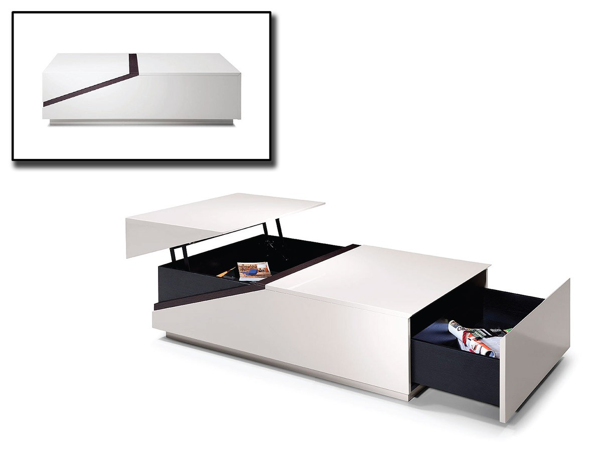 Modrest Se152a Modern Coffee Table W Storage Compartments