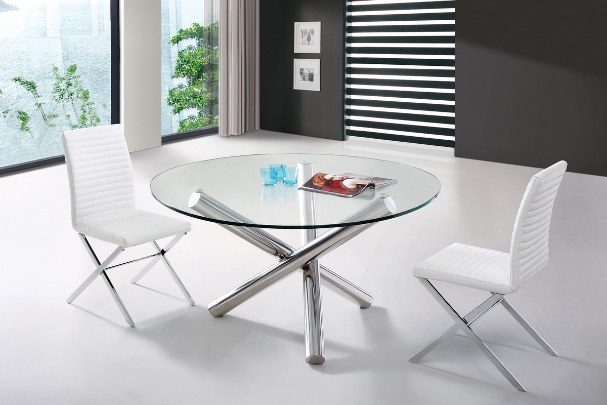 Modrest Frau - Modern Round Dining Table - Modern Dining ...