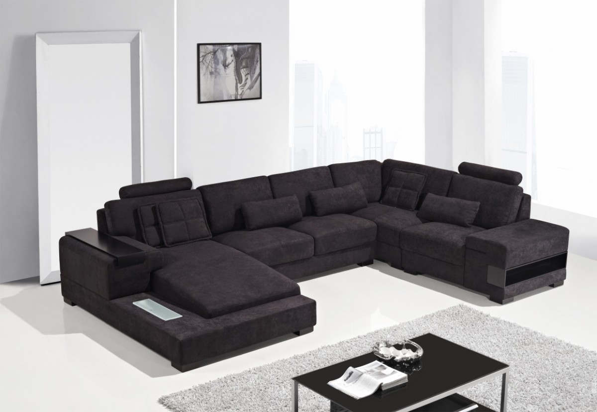 Divani Casa Diamond - Modern Fabric Sectional Sofa - Special Order ...