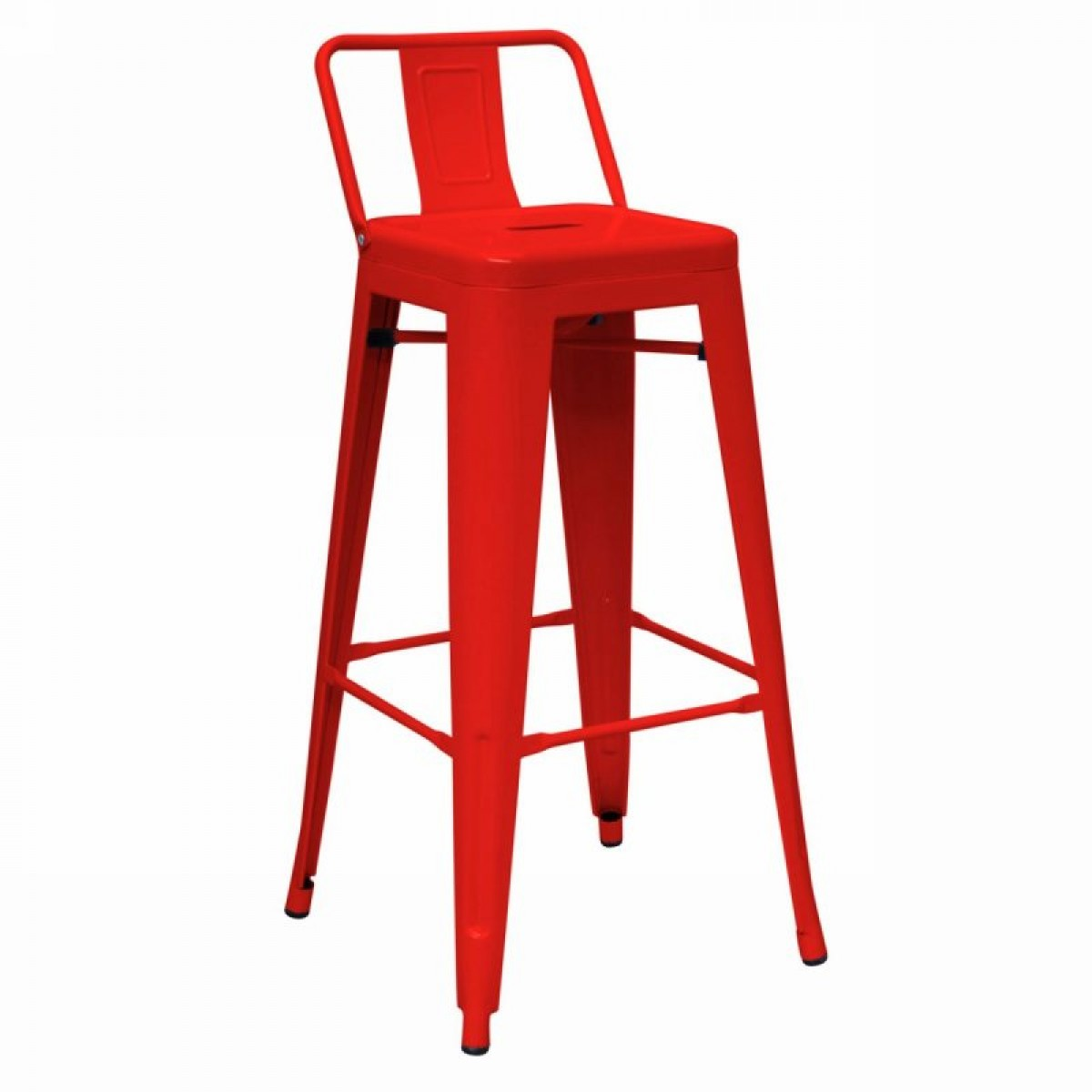 Dink Modern Red Metal Counter Stool Set Of 2 Bar