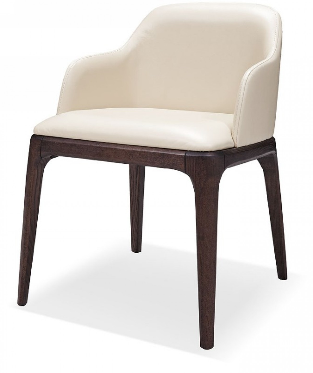 Modrest Margot Modern Cream Eco Leather Dining Chair
