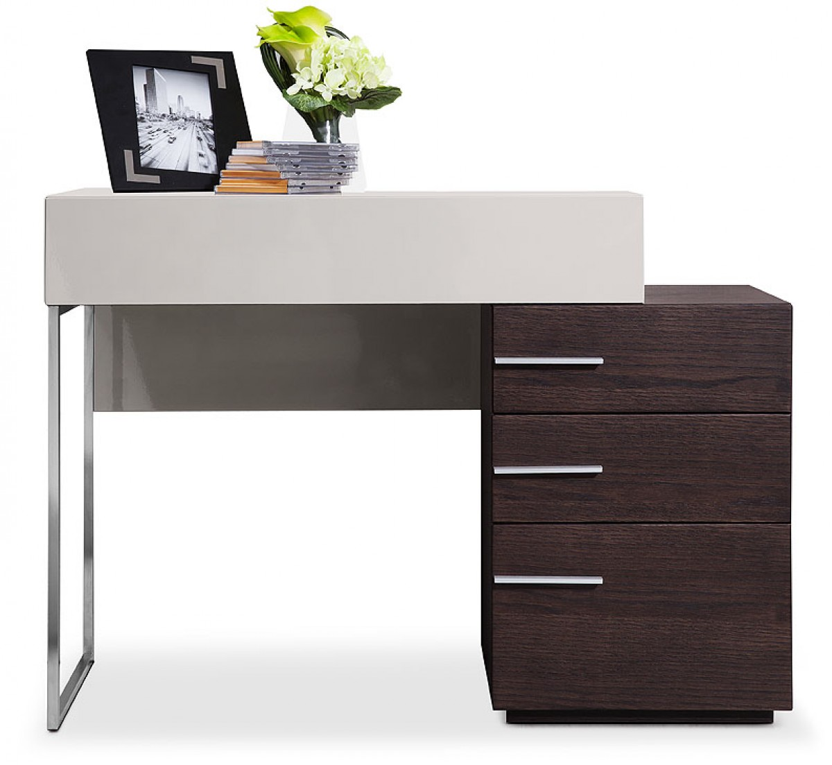 Modrest Daytona Modern Brown Oak Vanity Dresser Office