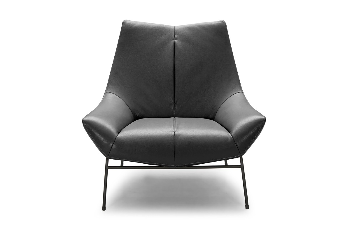 Divani Casa Colt Modern Grey Eco-Leather Accent Chair