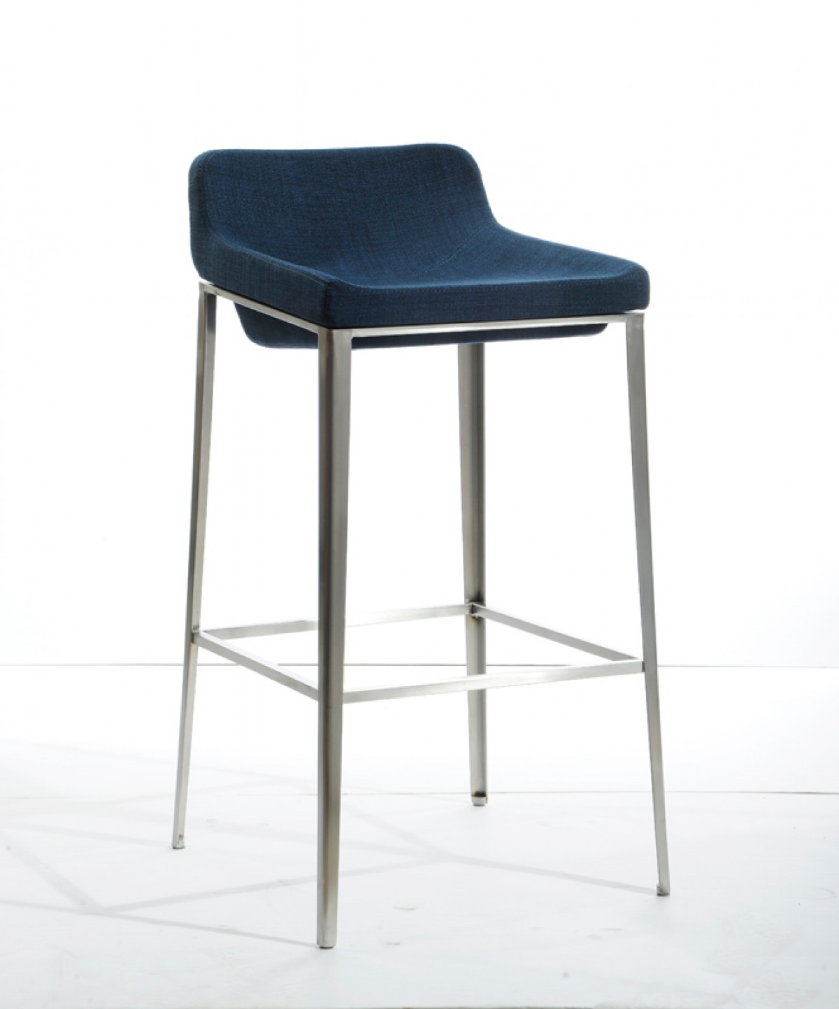 Modrest Adhil Modern Blue Fabric Bar Stool Bar Seating