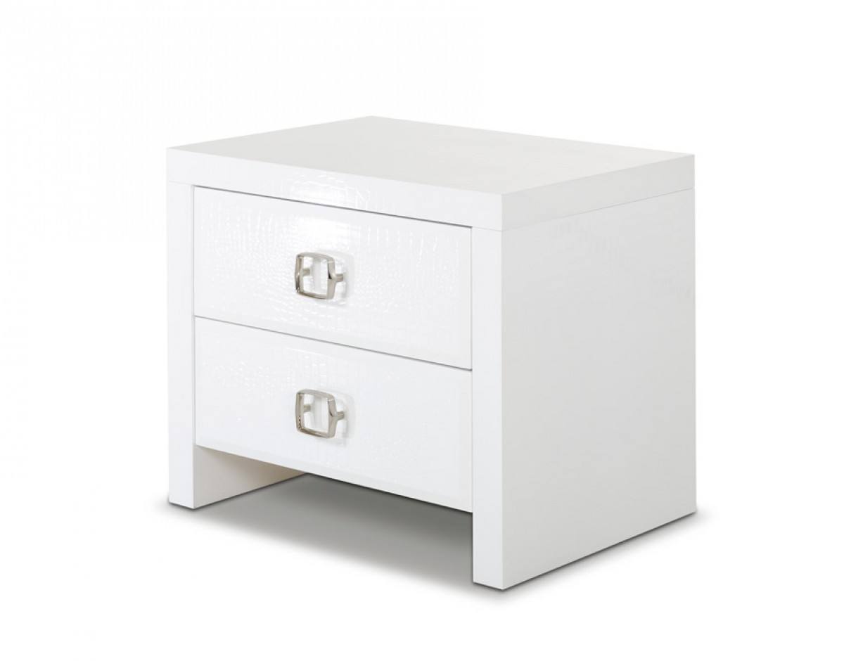 design white modern nightstand – modern night stands amazing  -  ax glam modern white crocodile nightstand bedroom ax – white modernnightstand