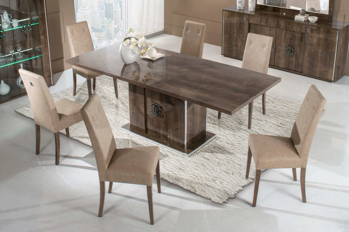 Modrest athen italian modern dining set for Modern dining t
