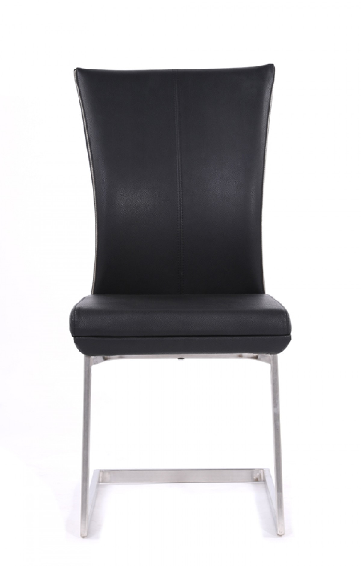Auden modern black dining chair set of 2 for Modern black dining chairs