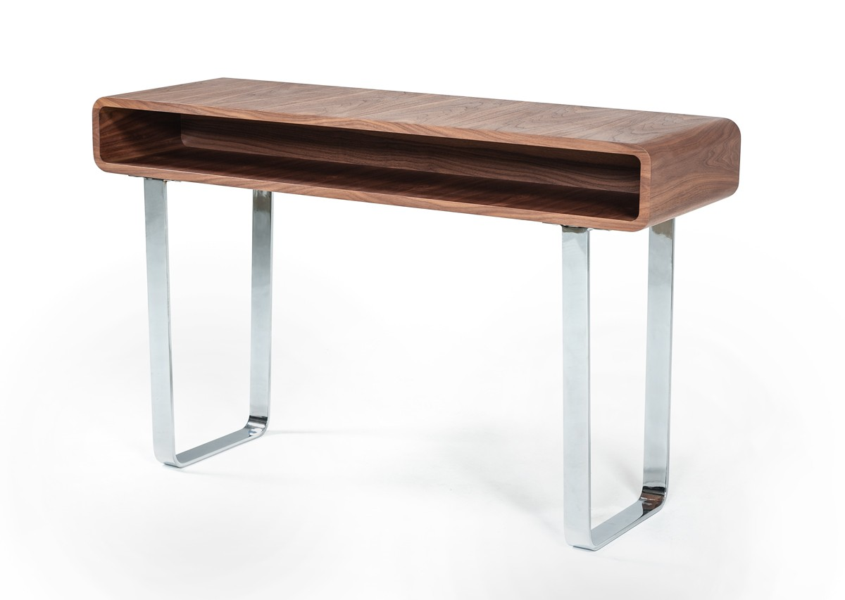 Modrest Avis Modern Walnut Console Table
