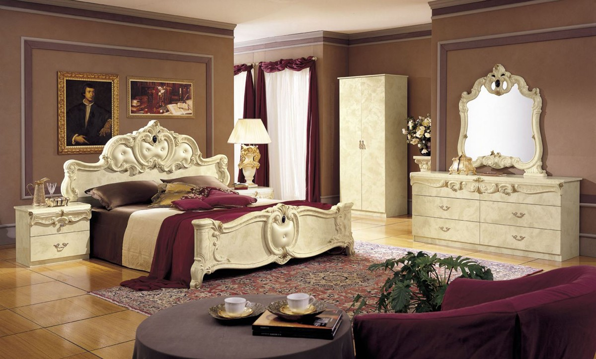 barocco black traditional italian bed modrest barocco ivory italian classic 5 piece bed set cal king only