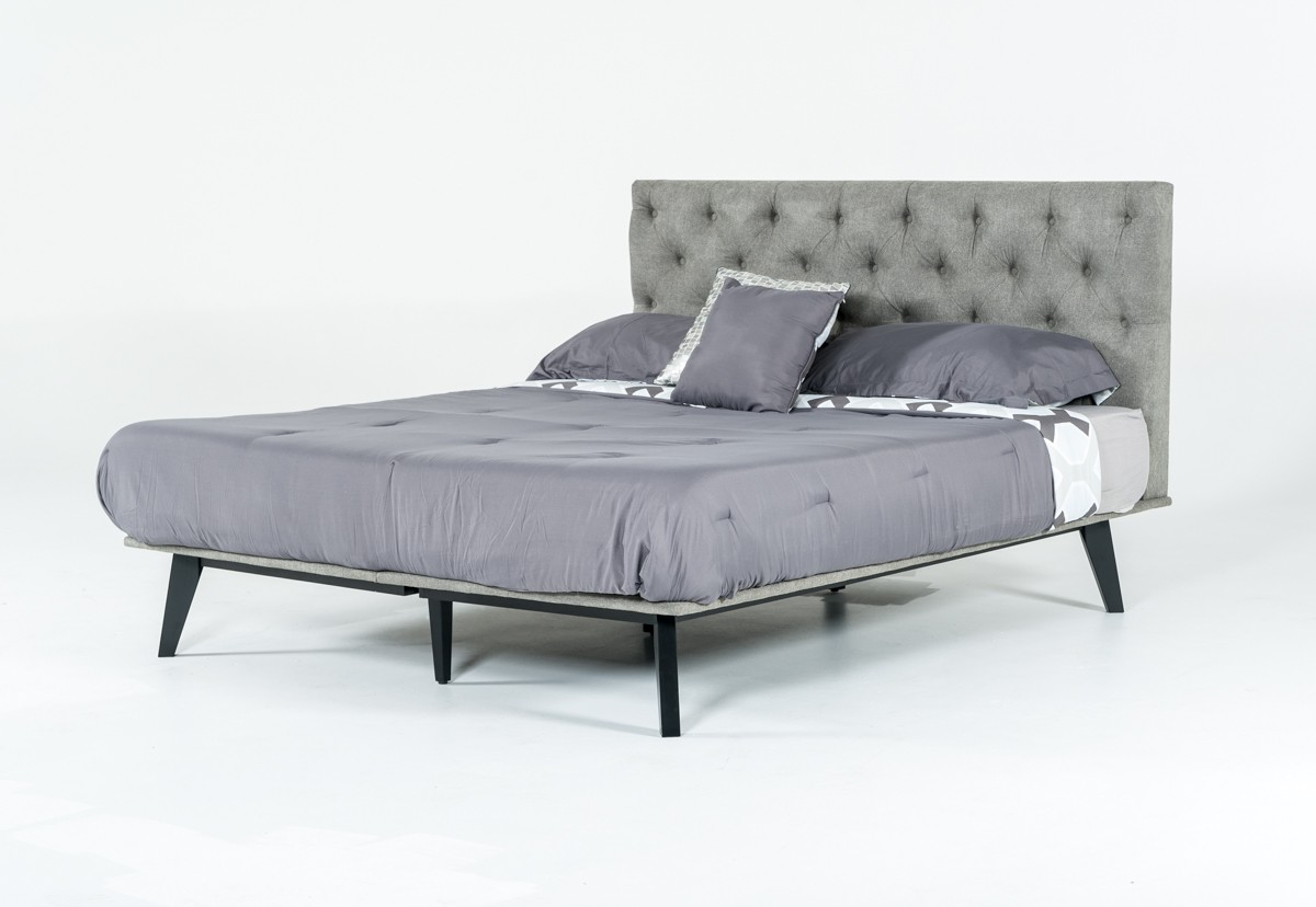 "Modrest Gibson Modern Grey Fabric Narrow King 72"" x 80"" Bed"