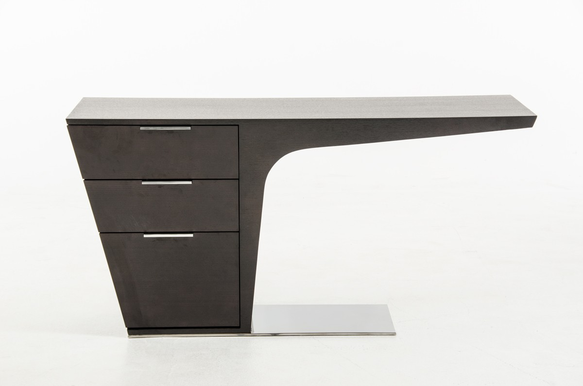 Image of: Modrest Bismarck Modern Wenge Office Desk