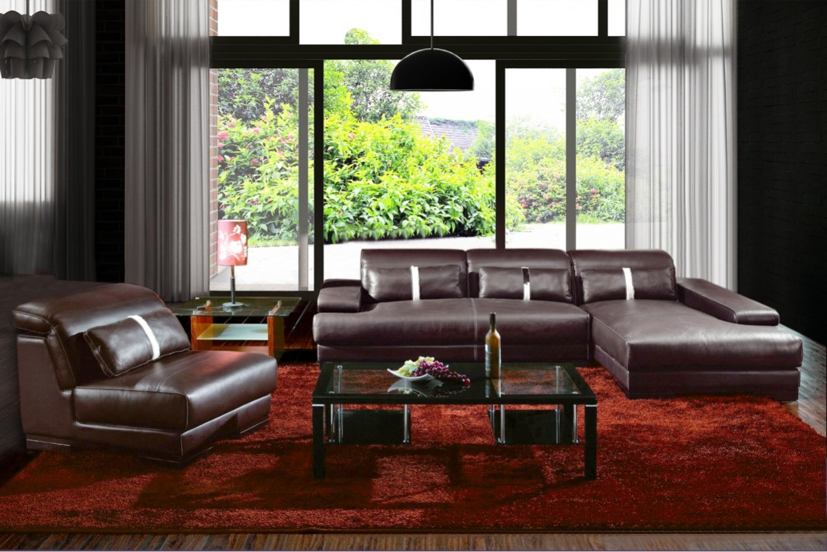 Awesome Boston Contemporary Leather Sectional Sofa Pabps2019 Chair Design Images Pabps2019Com