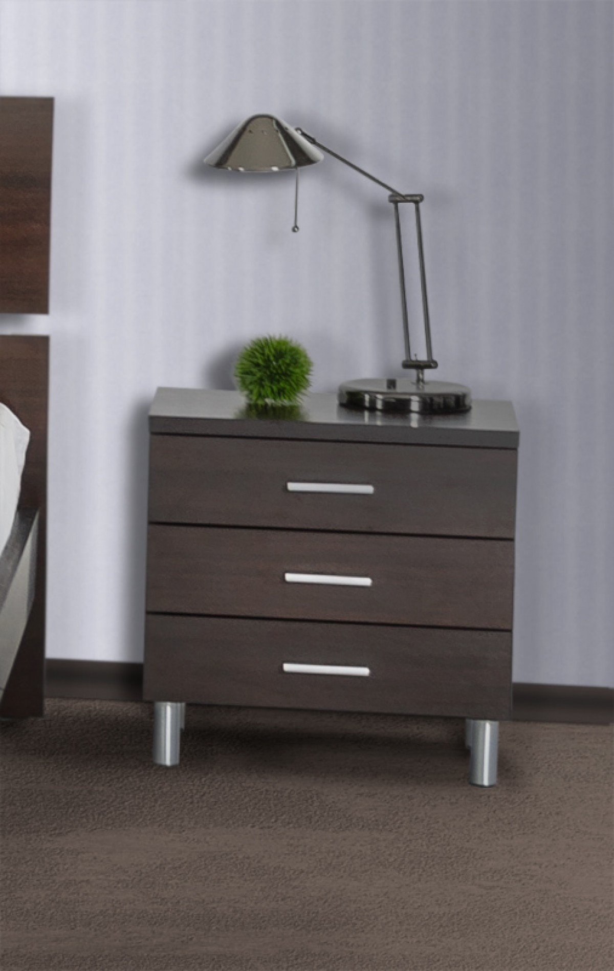Modrest Bravo Modern Wenge Nightstand Nightstands Bedroom