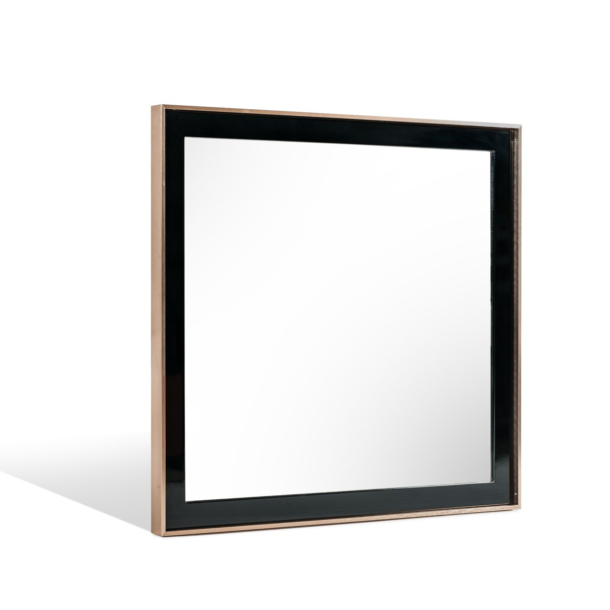 Nova Domus Cartier Modern Black & Brushed Bronze Mirror