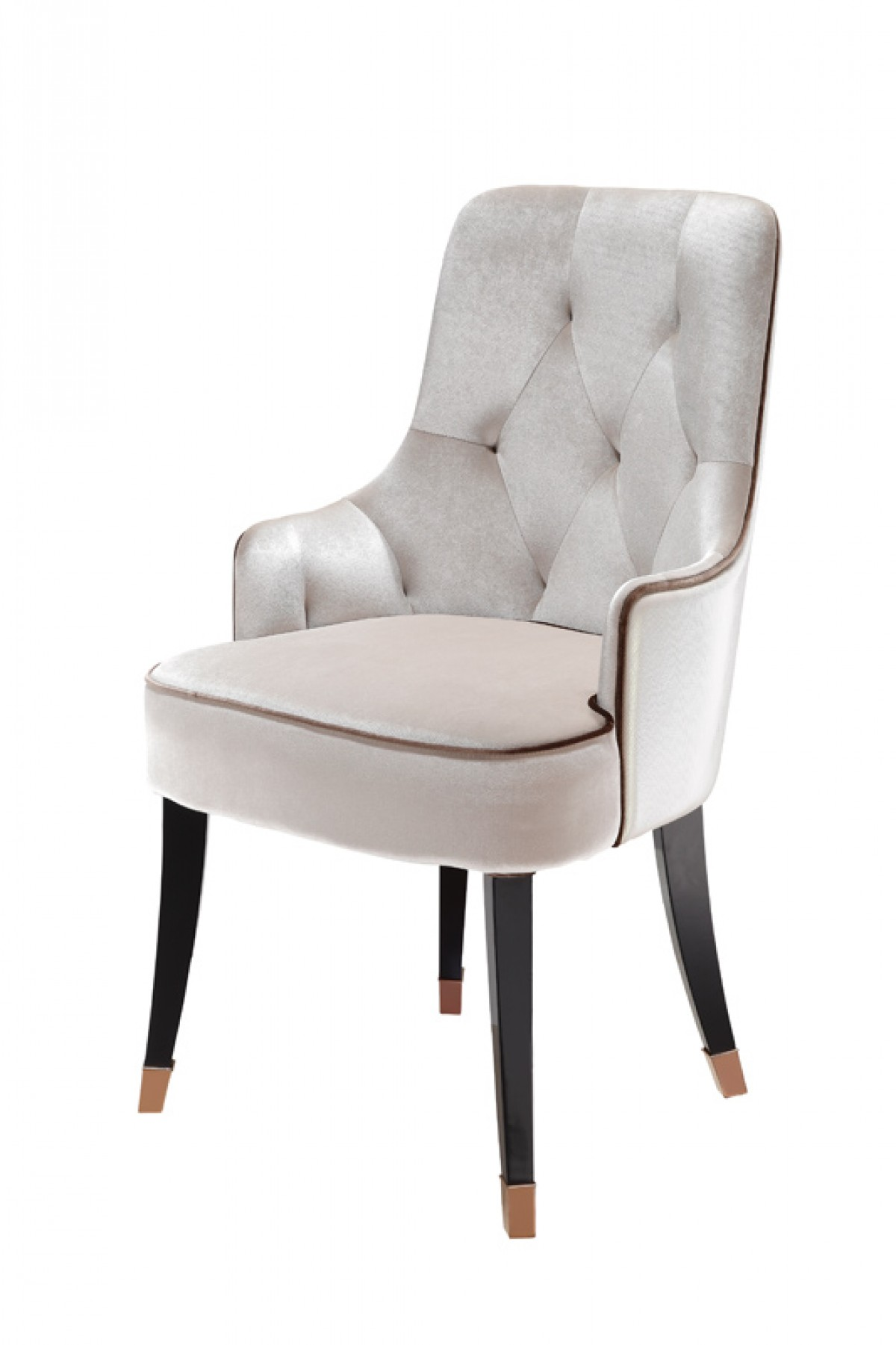 A larissa modern white fabric dining chair