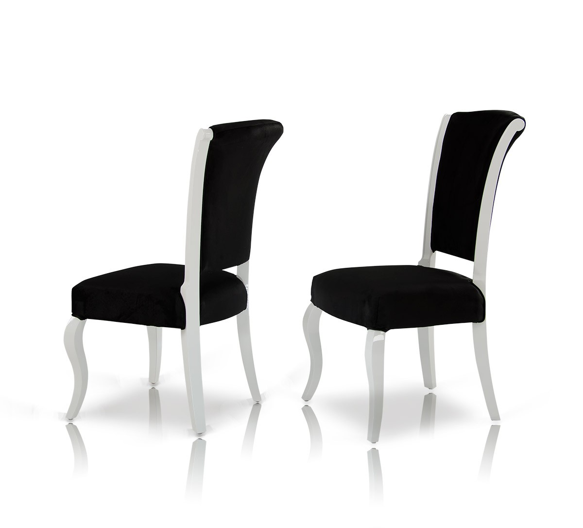 Seema - Modern Black & White Dining Chair (Set of 2)