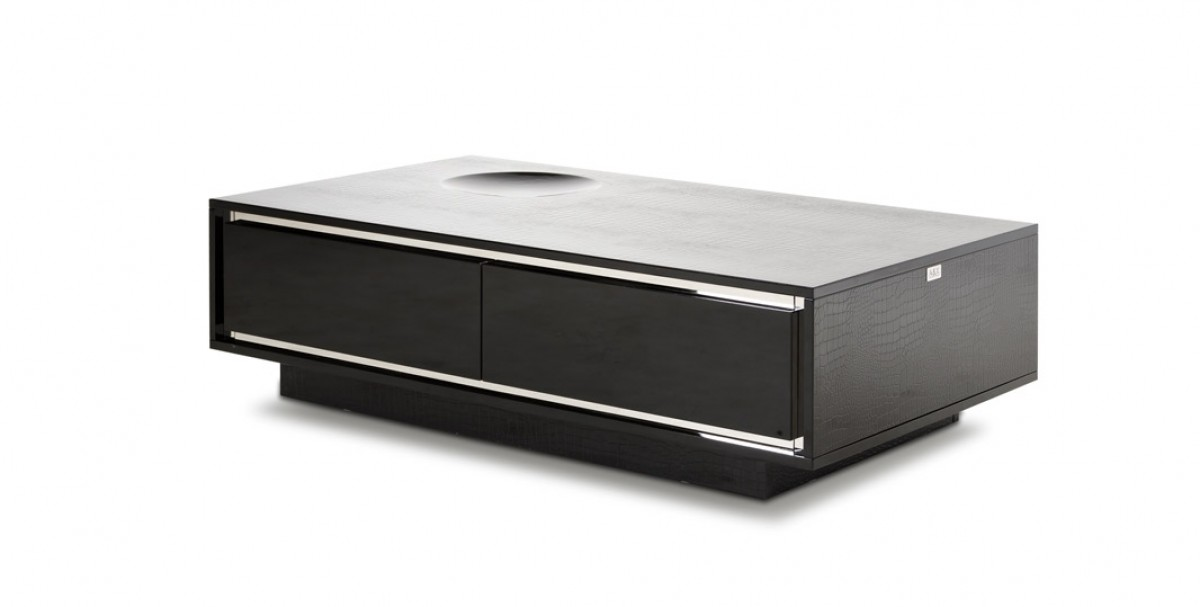 lacquer furniture modern. A\u0026X Grand - Modern Black Crocodile Lacquer Coffee Table With Drawers Furniture