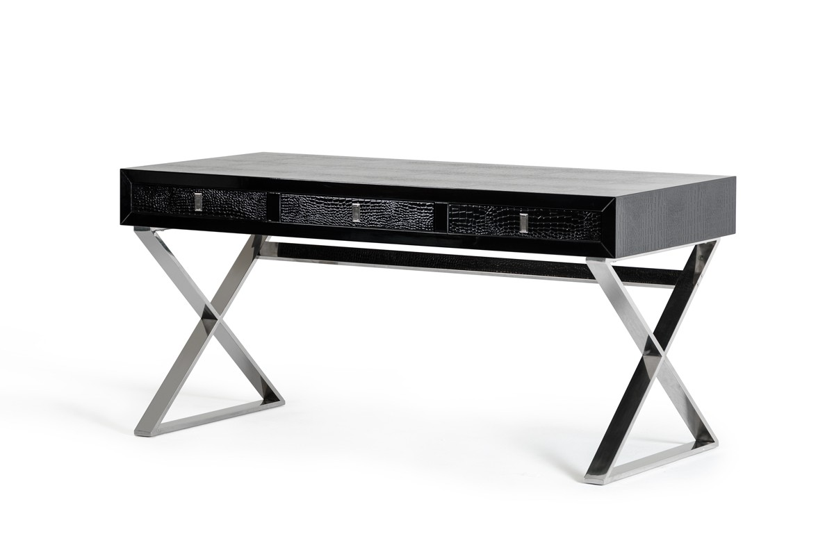 A Amp X Congress Transitional Black Crocodile Desk Desks