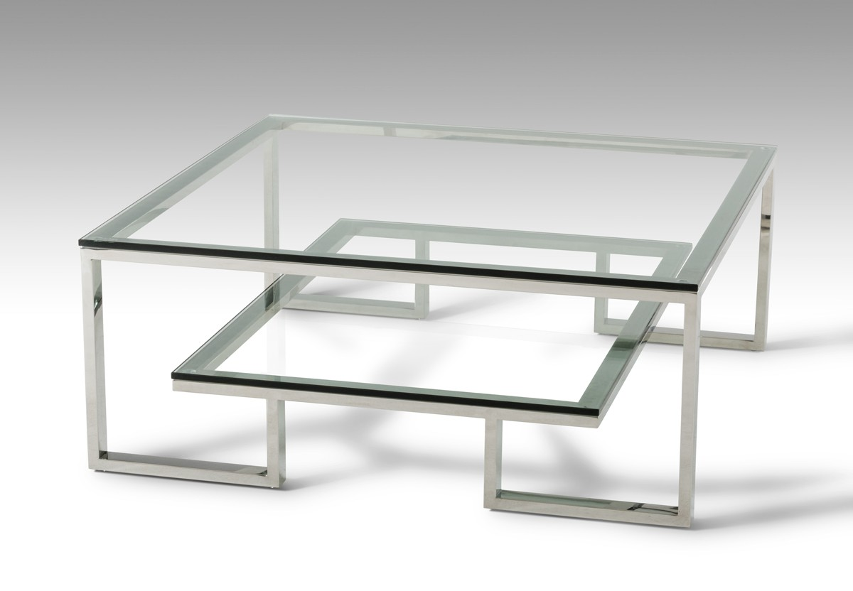 Modrest Topaz Modern Gl Coffee Table