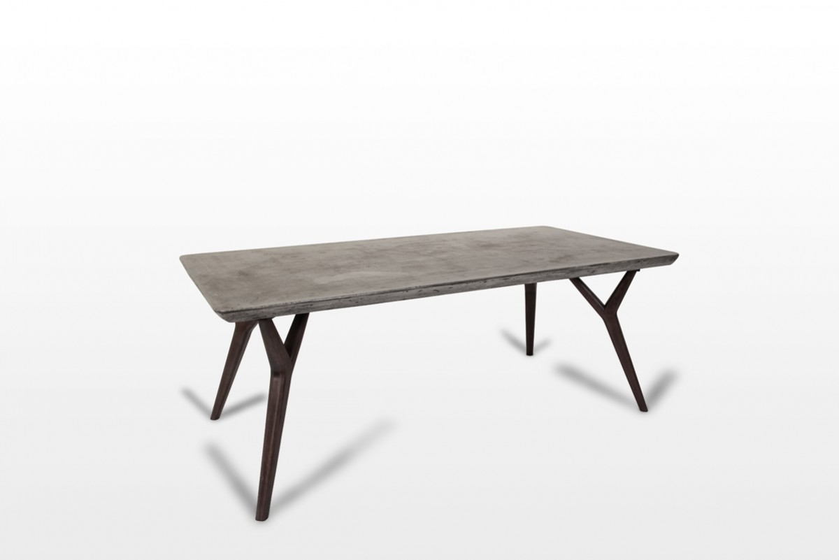 Home Dining Modern Dining Modrest Dondi Concrete Dining Table